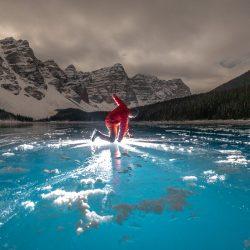 2x3, Alberta, Canada, Canada Rockies, Canadian Rockies, Frozen Lake, Landscape, Moraine Lake